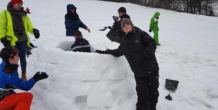 Construction d'igloo avec un professionnel (Abondance)
