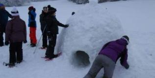 Construction d'igloo (Les Balcons du Mont Blanc)