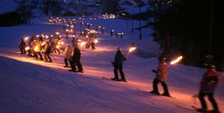 Ski nocturne (Châtel)